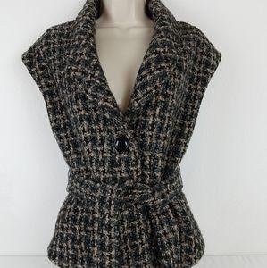 Millard Fillmore Vest Jacket Tweed Small